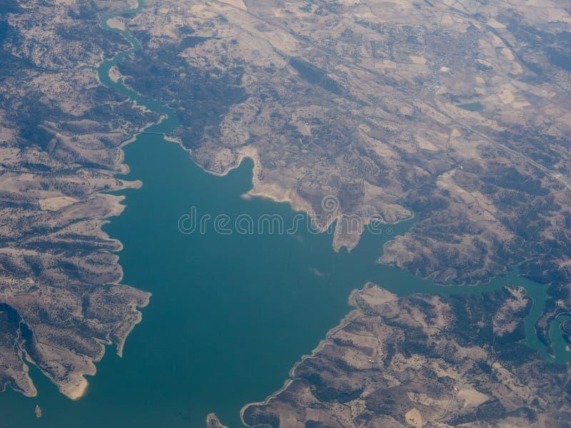Aerial view of Sardinia. Aerial view of the island of Sardinia, Italy stock photos