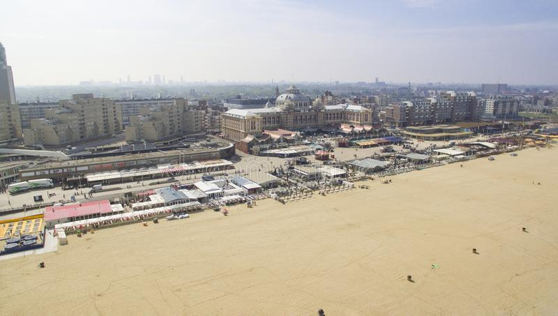 Aerial view on Scheveningen royalty free stock photography