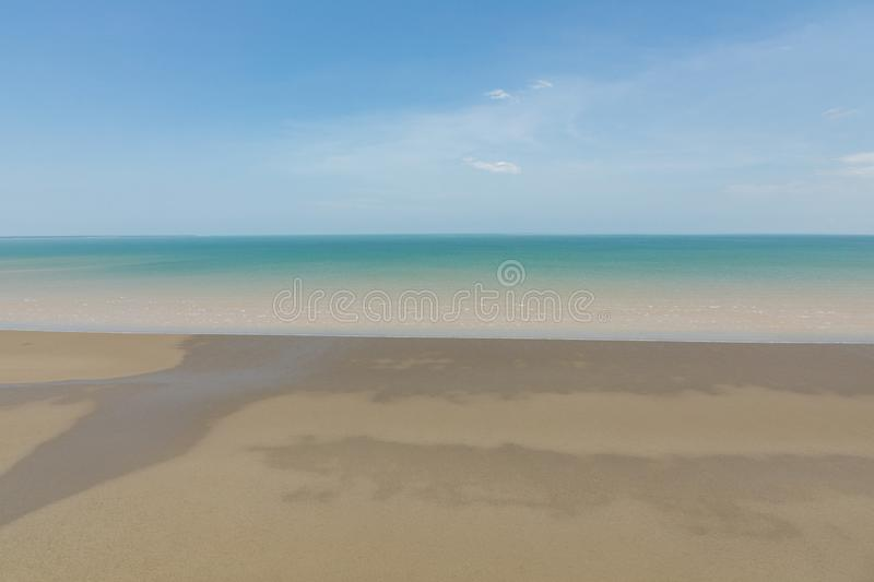 Aerial view of the sea and mudflat coastline at low tide. Aerial view of the mudflat coastline at low tide, Darwin, Northern Territory, Australia royalty free stock photography