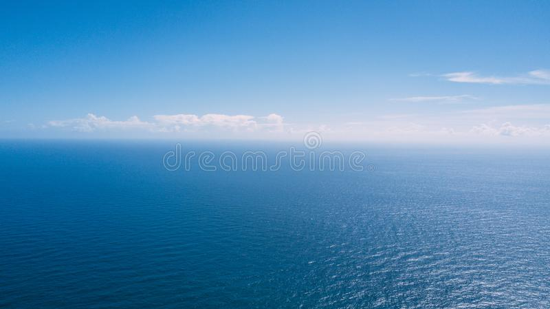 Aerial view of sea ocean water texture background royalty free stock photography