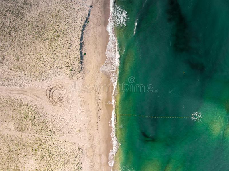 Aerial view of the seacoast in Crimea stock photography