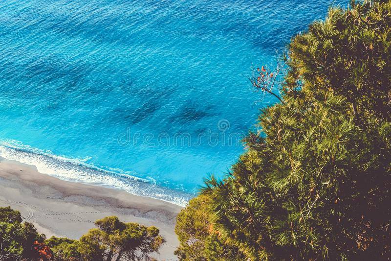 Aerial view of seashore royalty free stock photos
