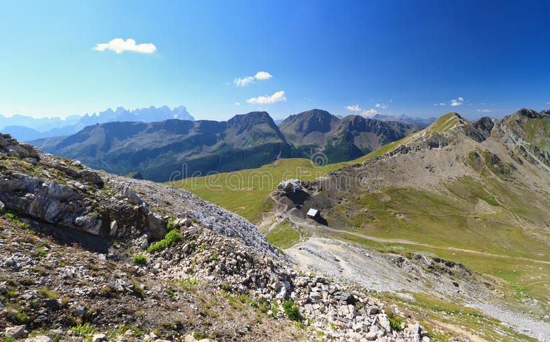 Selle Pass Aerial View Royalty Free Stock Photos