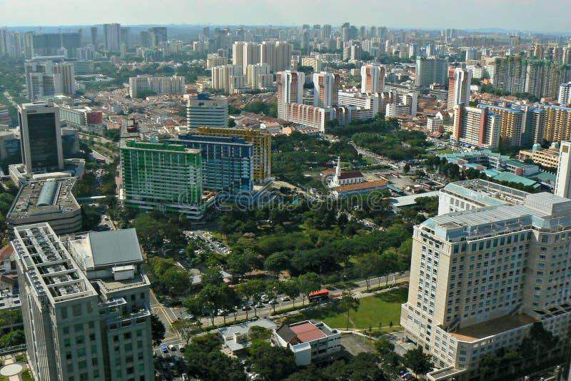 Aerial view - Singapore city stock image
