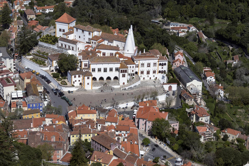Aerial view of Sintra - Lisbon - Portugal royalty free stock images