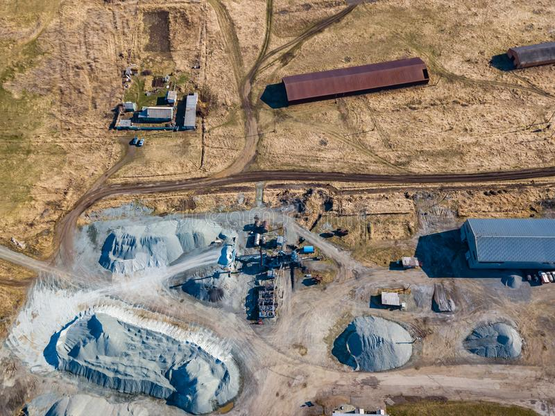 Bulldozer And Heaps Of Sand Stock Photo Image Of