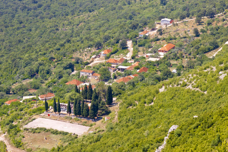 Download Aerial View On Small  Village In Montenegro Stock Photo - Image: 21203184