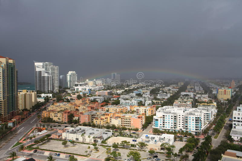 Download Aerial View South Beach Storm Stock Image - Image: 28082941