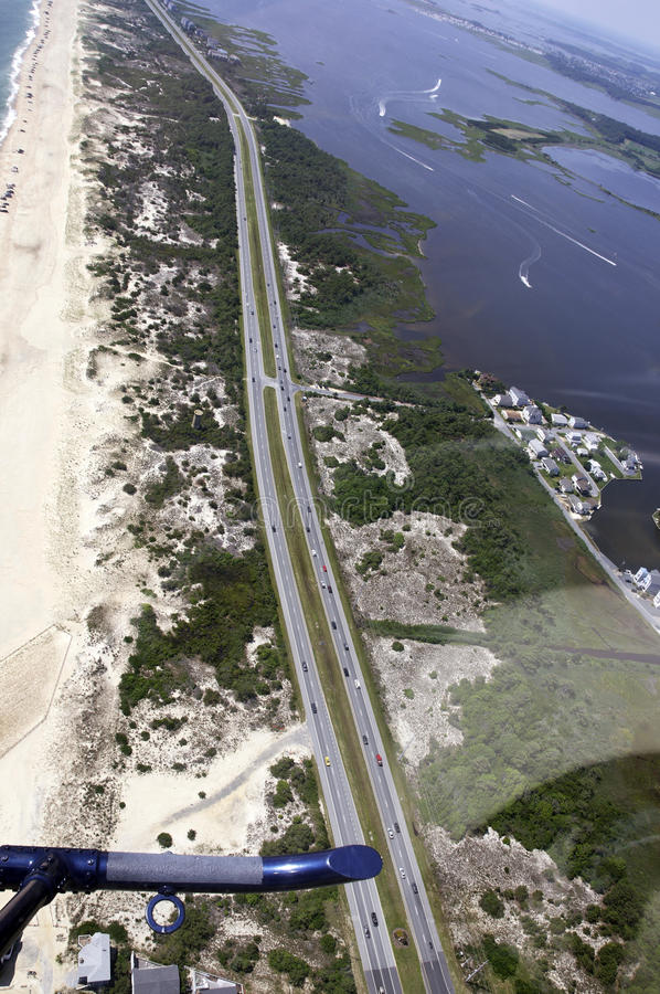 Free Aerial View-Southern Delaware Beach Royalty Free Stock Photography - 10171427