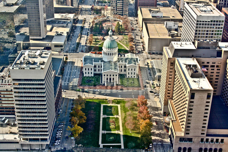 Aerial view of St. Louis stock photo