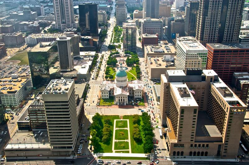 Download Aerial View Of St. Louis City Scape Editorial Photo - Image: 25249041