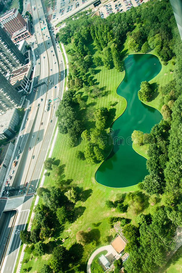 Aerial View of St Louis Missouri royalty free stock photography
