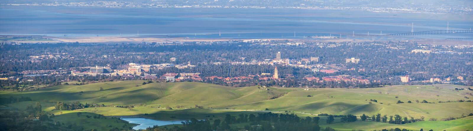Aerial view of Stanford royalty free stock photo