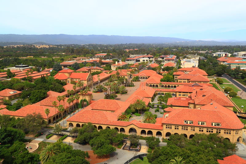 Aerial View Stanford University royalty free stock image