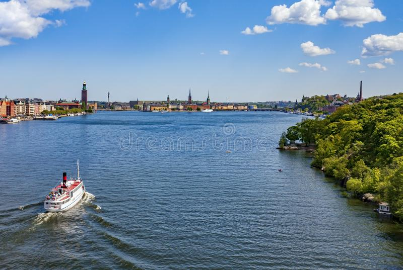 Aerial view of Stockholm City. In summer royalty free stock image