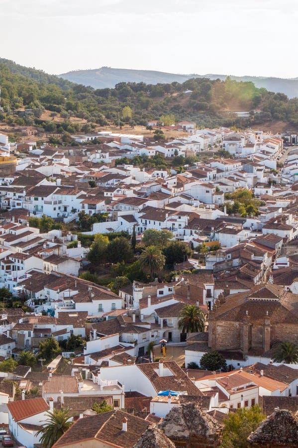 Village of Cortegana, in the Saw of Huelva, Spain royalty free stock photos