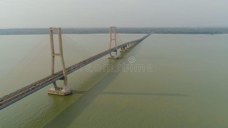 Suspension cable bridge in surabaya royalty free stock image