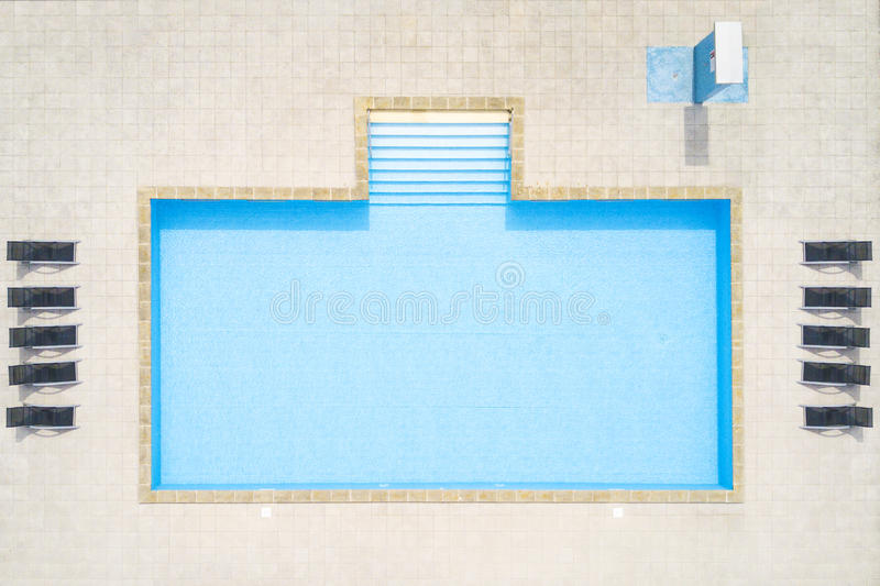 Aerial view of swimming pool royalty free stock images