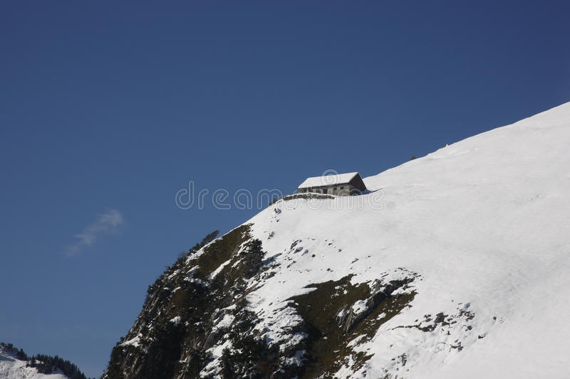 Aerial View Swiss Alps royalty free stock images