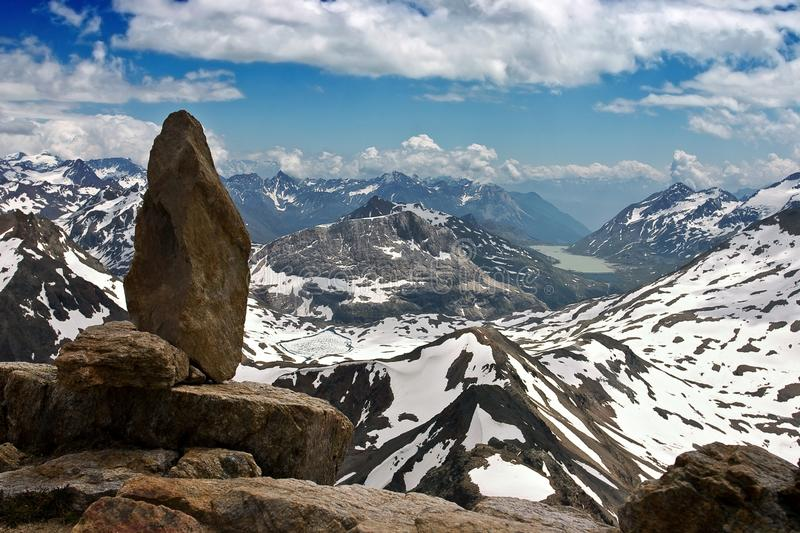 Download Aerial View Of Swiss Alps In Summer Stock Image - Image: 26453943