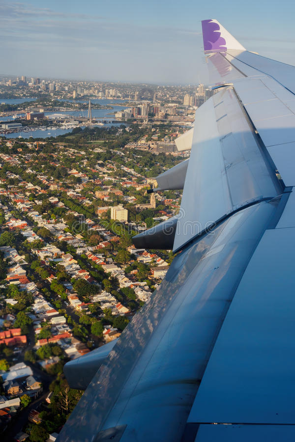 Aerial view of Sydney Harbour and surrounds royalty free stock photography