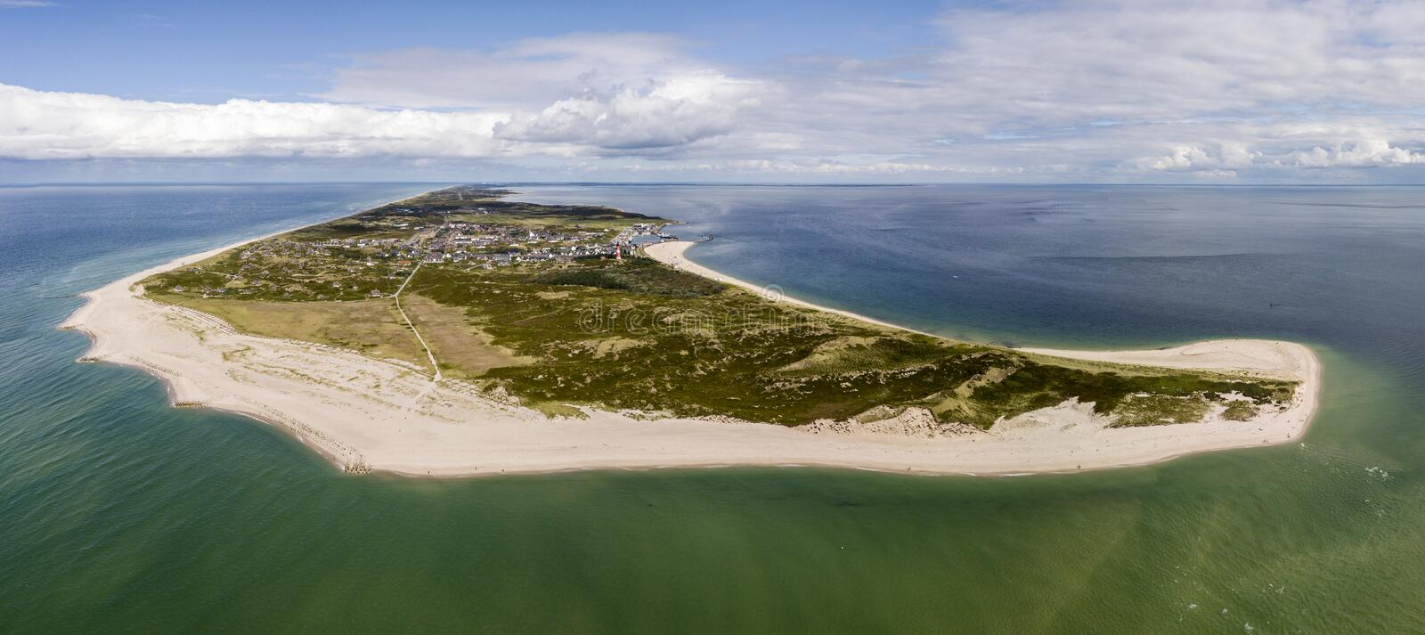 Aerial view of Sylt island, nothern Germany stock image