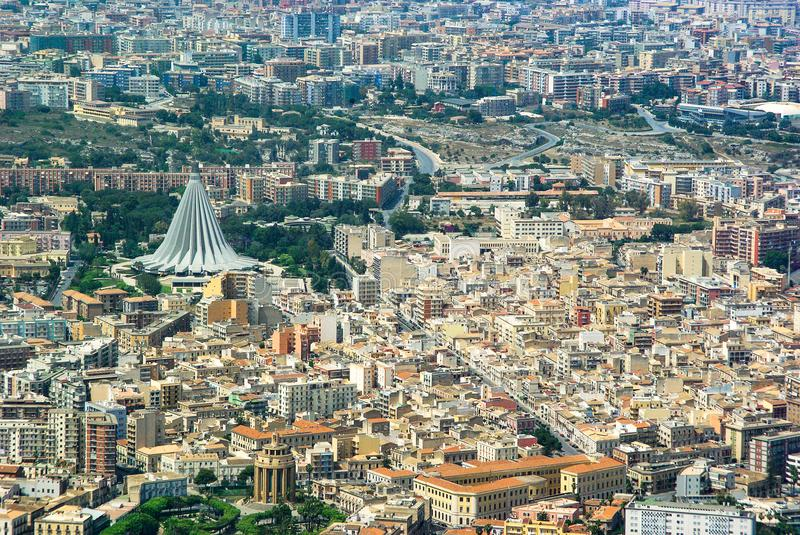 Aerial view of Syracuse Sicily stock images