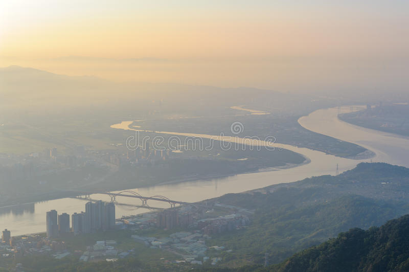 Aerial view of taipei royalty free stock images