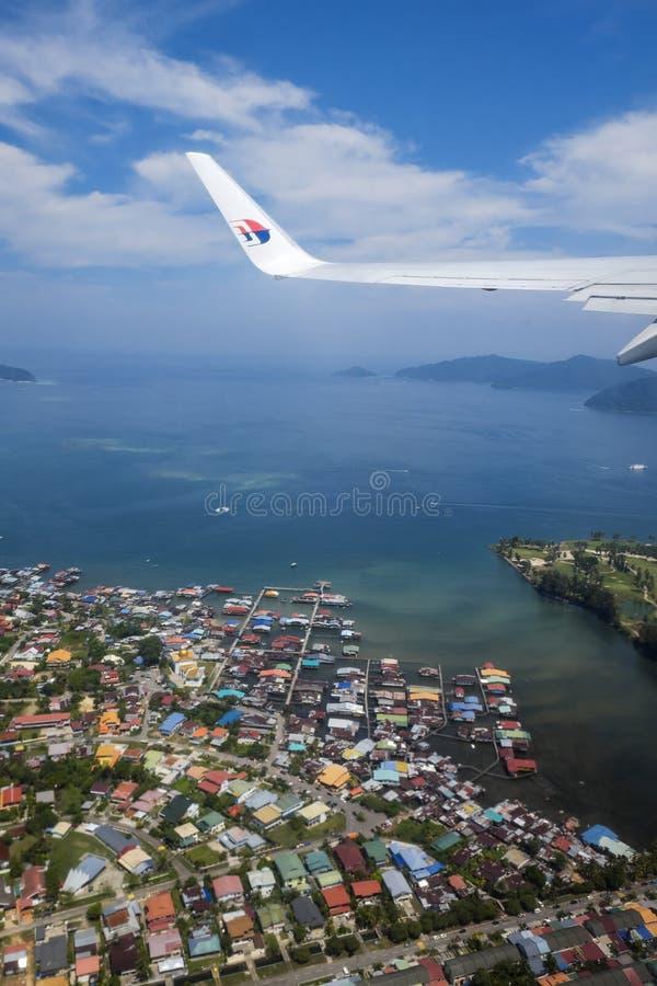 Aerial View Of Tanjung Aru Sabah Malaysia stock image