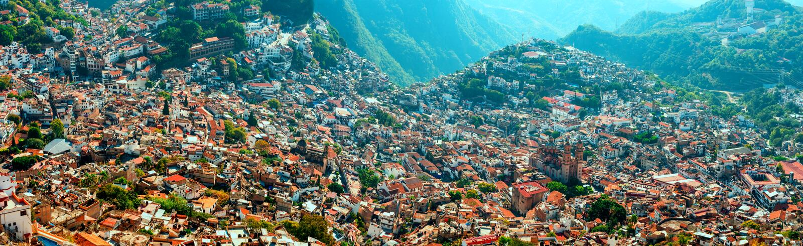Aerial view of Taxco, Guerrero, Mexico royalty free stock photo