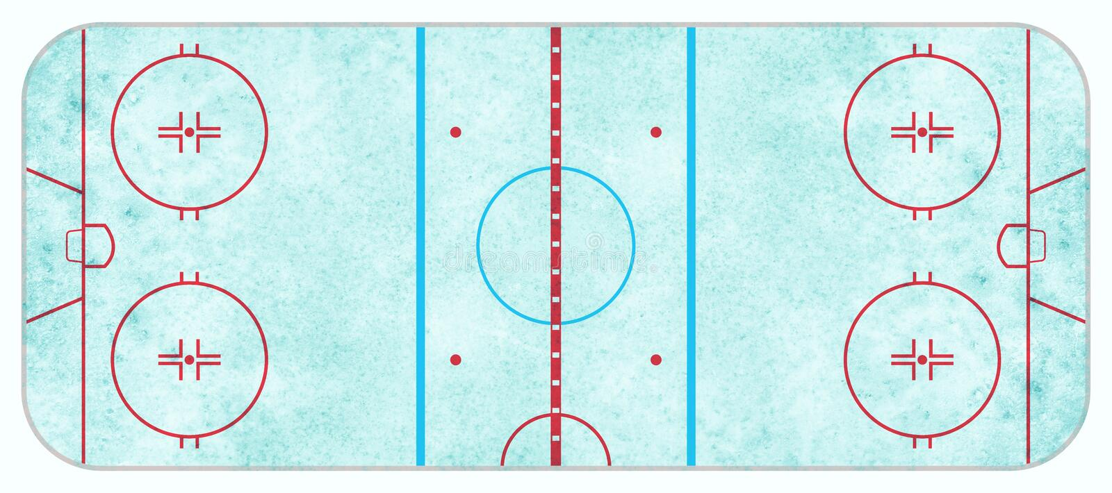 Aerial View of Textured Ice Hockey Rink royalty free stock image