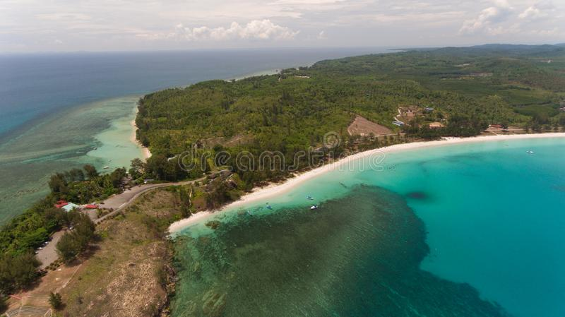 The tipof borneo. An aerial view Tip of Borneo,Kudat,Sabah,MALAYSIA stock images