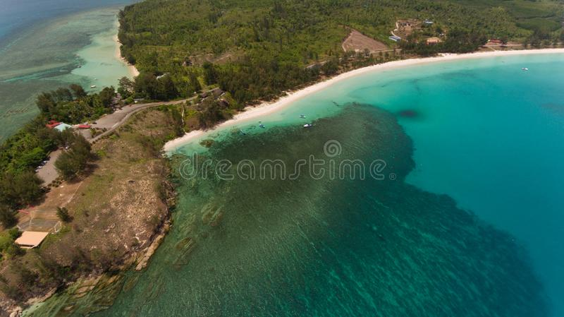 The tipof borneo. An aerial view Tip of Borneo,Kudat,Sabah,MALAYSIA stock photography