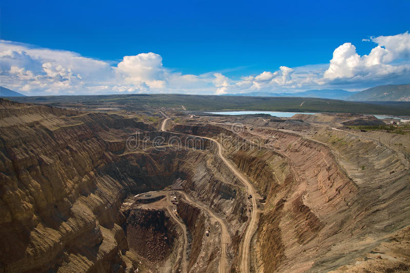 Download Aerial View To The Diamond Open Mine Stock Image - Image: 45719401