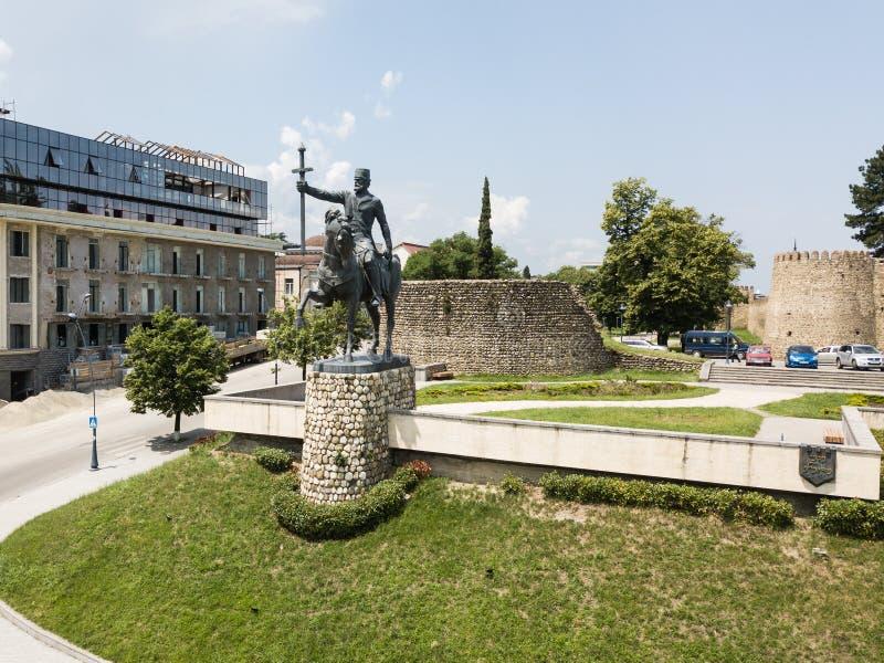 Aerial view to Monument of King Erekle II in Telavi. Kakheti region. Georgia stock photos