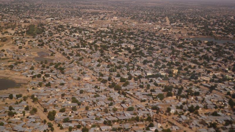 Aerial view to NDjamena and Chari or Chari river, Chad. Aerial view to NDjamena and Chari or Chari river, capital of Chad stock photos