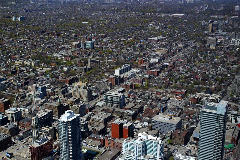 Aerial view of Toronto Downtown / Ontario / Canada royalty free stock photo