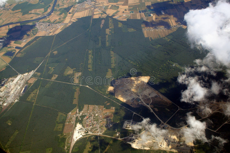 Download Aerial View Towns,fields And Woods Stock Photo - Image: 1407300
