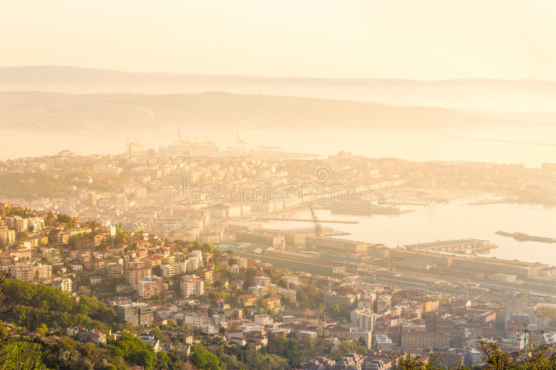 Download Aerial View Of Trieste, Italy. Stock Image - Image of exterior, center: 39505633