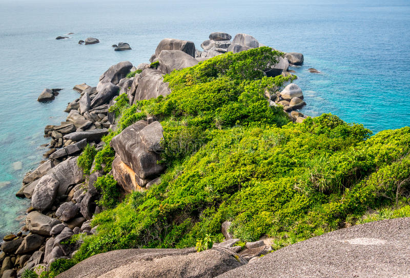 Aerial view of tropical island, koh Similan, Thailand royalty free stock photography