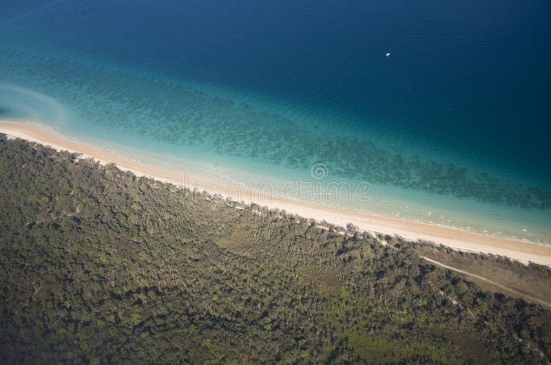 Download Aerial View Of Tropical Shoreline Stock Image - Image: 10575079