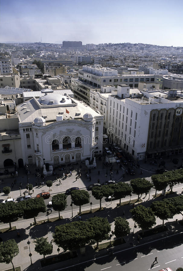 Aerial view- Tunis, Tunisia royalty free stock photography