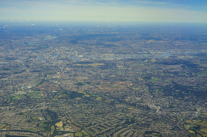 Aerial view of United Kingdom. Aerial View of Downham, Bromley, Shortlands, Eden Park, Park Langley in morning, United Kingdom royalty free stock photos