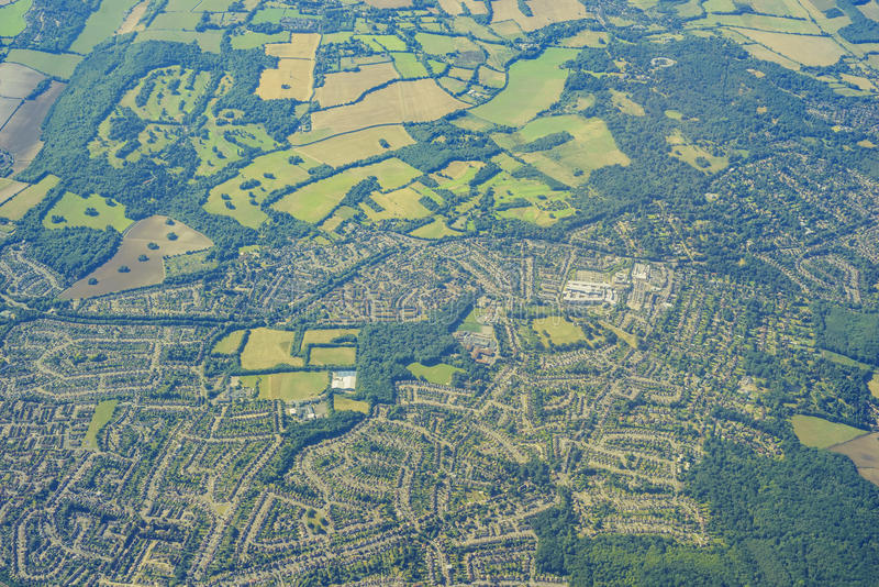 Aerial view of United Kingdom. Aerial View of Orpington in morning, United Kingdom royalty free stock photography