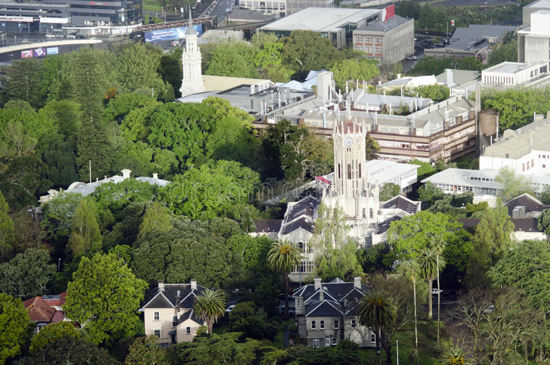 Aerial view of University of Auckland New Zealand NZ royalty free stock photos