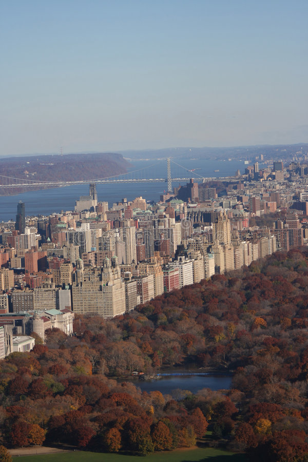Aerial view of Upper West Side stock image