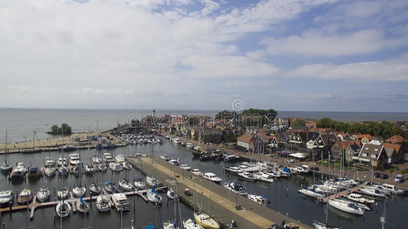 Aerial view on Urk stock photo