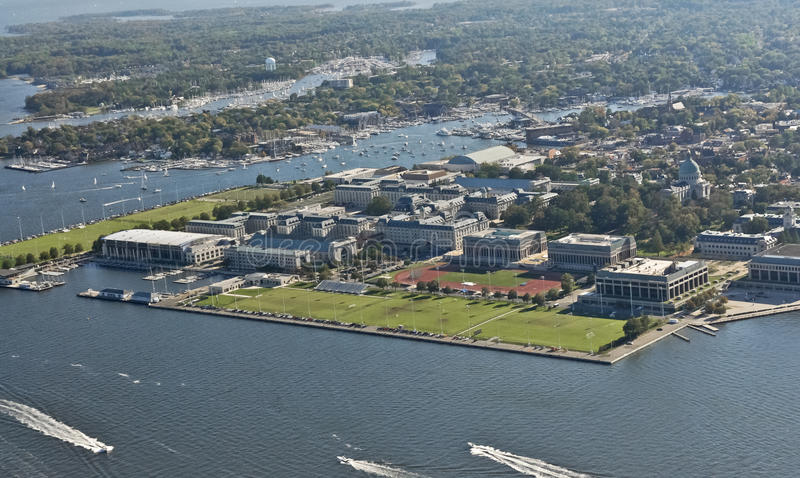 Aerial View of US Naval Academy royalty free stock photos