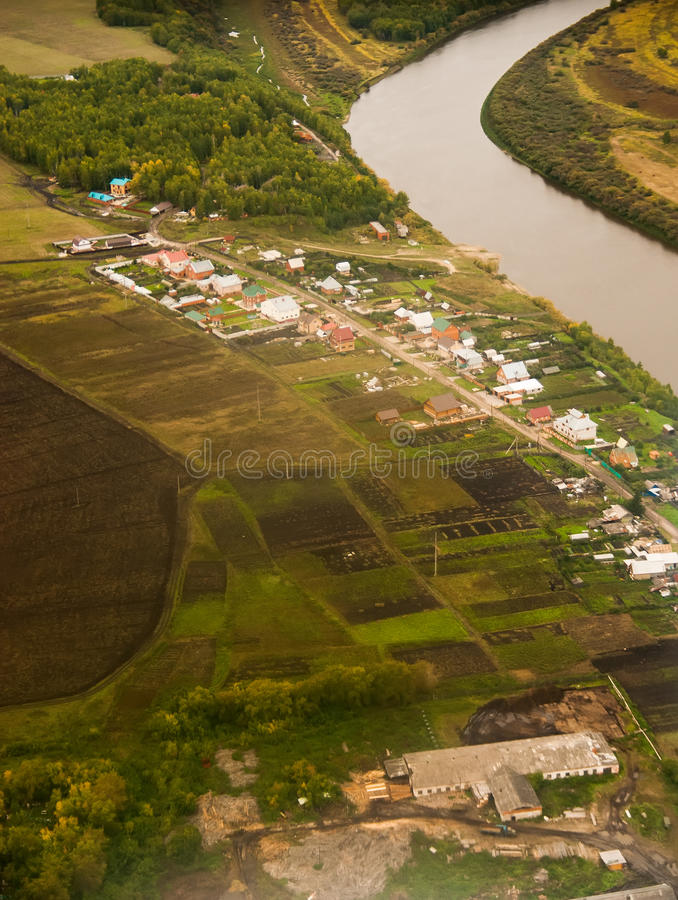 Download Aerial view of village stock photo. Image of building - 29442096