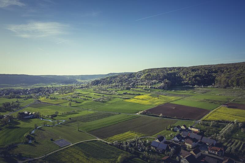 Aerial View of Village during Daytime royalty free stock photo